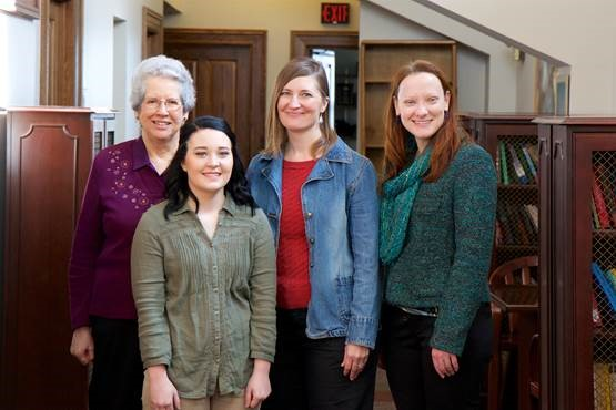 2016 Dorothy Scholarship recipient Natalie Young, with Professors Clifford, Padgett-Walsh, and Caraway.