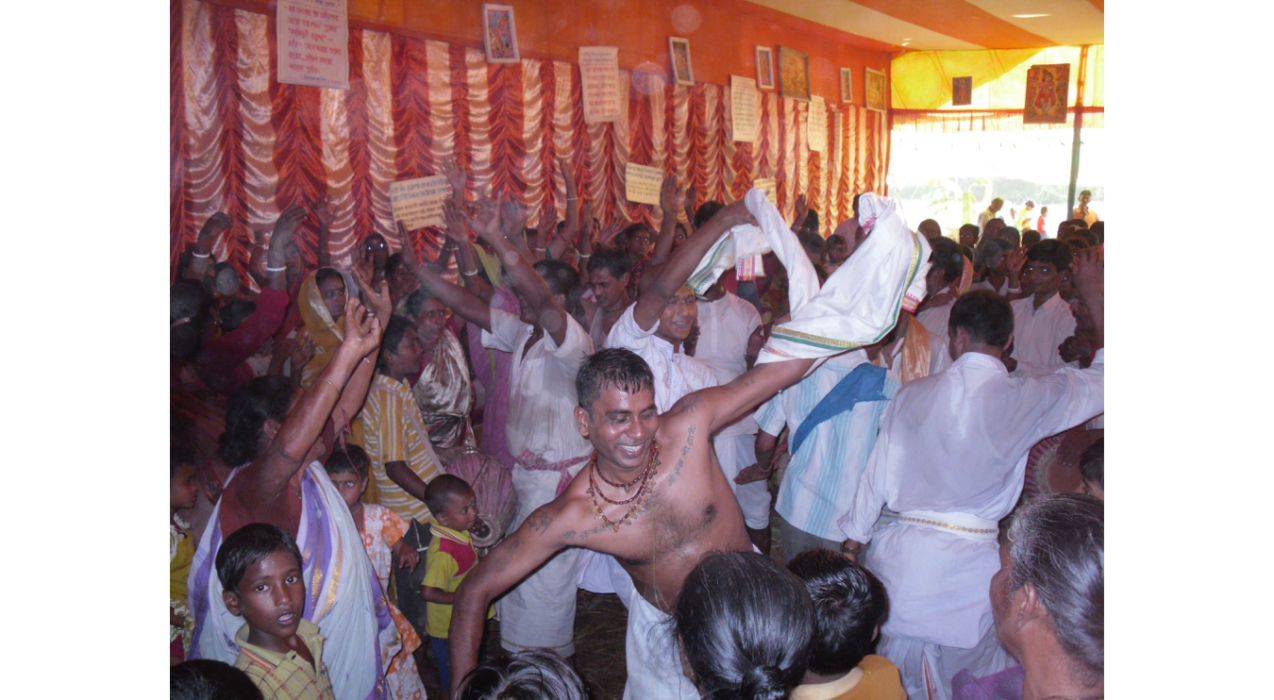 This picture comes from Dr. Travis Chilcott's research on Hindu devotional traditions, which involves photo-documenting devotional ecstasy in rural India. Dr. Chilcott teaches Religious Traditions of India, Introduction to World Religions and Theory and Method in the Study of Religion.